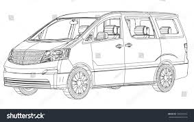 land rover defender vector minivan car abstract drawing wireframe eps10 stock vector
