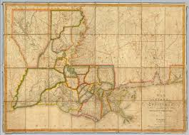 Louisiana Purchase Map by Map Of The State Of Louisiana Darby William Melish John 1816