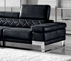 Black Fabric Sectional Sofas Divani Casa Arden Modern Black Fabric Sectional Sofa