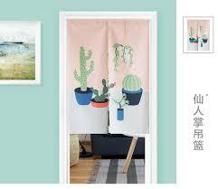 plante cuisine decoration style japonais coton plante cactus porte rideau décoration
