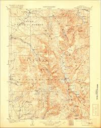 Montana Topographic Map by New Cowboy State Maps Add U S Forest Service Data