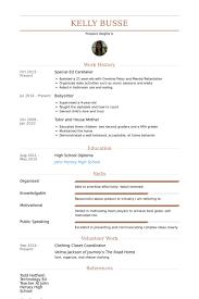 Caregiver Resume Samples by Caretaker Resume Samples Visualcv Resume Samples Database