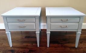 rainy day blue gray before u0026 after end tables painted with diy
