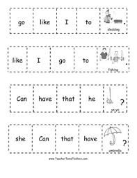 7 best images of cut and paste sentence building worksheets