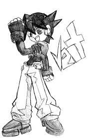 megaman zx coloring picture