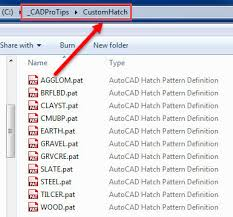 hatch pattern definition adding hatches to the custom tab in autocad cadprotips