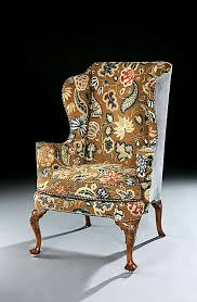 Queen Anne Wingback Chair A Queen Anne Walnut Wing Chair English Antique Furniture