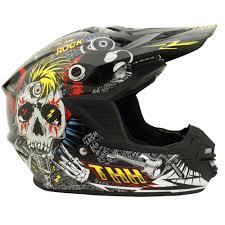 thh motocross helmet thh tx 15 rock n roll helmet black blue red cully u0027s yamaha
