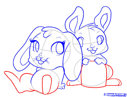 how to draw easter bunnies step by step easter seasonal free