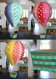 How To Make Paper Air Balloon Lantern - diy air balloons the pleated poppy