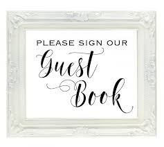 wedding sign in books guest book wedding sign sign our guest book printable