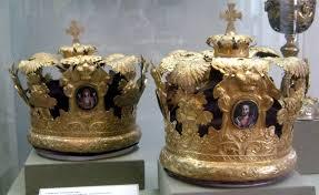 orthodox wedding crowns orthodox wedding crowns russia 19th c goldtone velvet