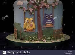 Owls On Swing Decorative Birthday Cake At Cake International U2013 The
