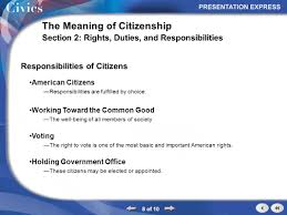 right meaning section outline 1 of 10 the meaning of citizenship section 2