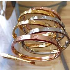 titanium steel love bracelet images Trumpet jewels jewelry titanium steel love bracelet screwdriver jpg