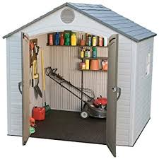 amazon com lifetime 6418 outdoor storage shed 8 by 5 feet