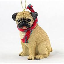 pug gift box ornament home kitchen