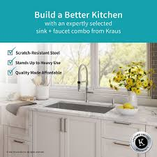 Kitchen Sink Faucet Combo Khu100 32 1640 42ch Kitchen Combo With Handmade Undermount