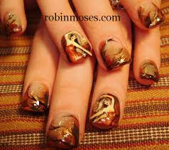 fall thanksgiving autumn nail autumn leaves nail