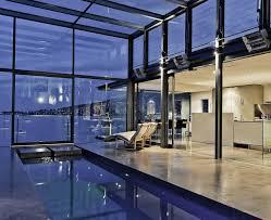 indoor pool modern design luxury getaway