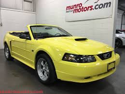 2003 Black Mustang Convertible 2003 Ford Mustang Gt Sold Deluxe Low Kms Zinc Yellow 5 Speed Munro