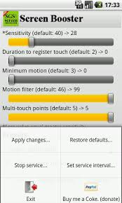 touch screen calibration apk sgs touchscreen booster 2 0 apk android personalization
