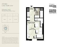 zahra breeze apartment floor plan types dubai property developer