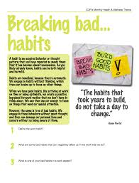 Breaking Bad Theme Health And Wellness Theme For October Breaking Bad Habits