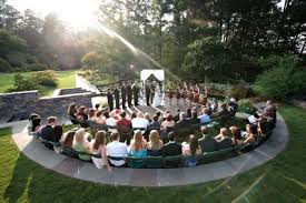 a small amphitheater can be good for weddings and outdoor speaking