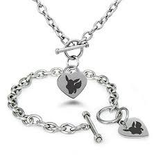 stainless charm bracelet images Stainless steel 1st gen eevee pok mon heart charm bracelet jpg