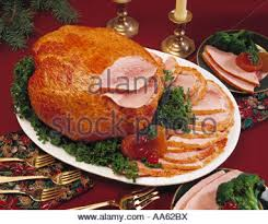 fully cooked whole spiral ham dinner platter garnish culinary