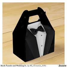 black tie party favors black tuxedo and wedding dress party favor box wedding favor