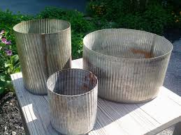 Corrugated Metal Planters by 17 Best Images About Planters On Pinterest Gardens Obelisks