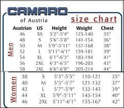 camaro wetsuit wetsuit size charts for all known brands 360guide