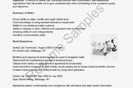dental technician resume sample application letter for technician