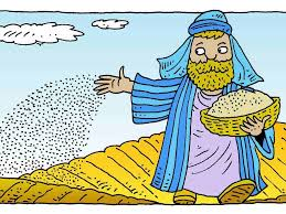 free bible images jesus tells a parable about a sower scattering
