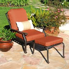 reclining patio chairs with ottoman charming reclining patio
