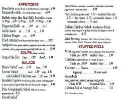 ferraris pizza s pizzeria and restaurant menu urbanspoon zomato