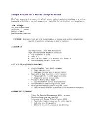 Graduate Application Resume Example Of High Resume Basic Resume Templates For High