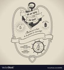 nautical themed wedding invitations vintage nautical themed wedding invitation vector image