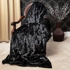 Faux Fox Fur Throw Furniture Dark Brown Faux Fur Throws