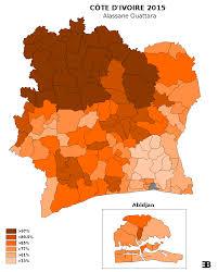 Ivory Coast Map Ivory Coast Presidential Election October 25 2015