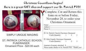 pto ornament fundraiser