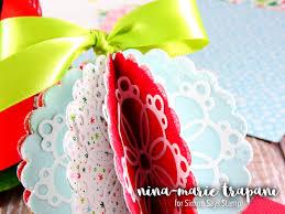 paper christmas ornaments simon u0027s december card kit nina marie