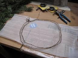 chickens on the porch coat hanger christmas wreath or how to make