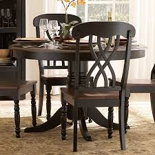 Dining Room Accent Furniture Ohana Black Round Dining Room Set Casual Dinette Sets