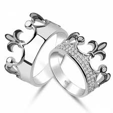 diamond king rings images King queen crown ring setgold crown ringpromise by uniquenewline jpg