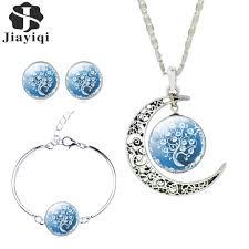 silver necklace bracelet set images Liebe engel women fine romantic silver color jewelry sets tree jpg