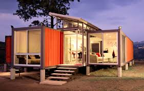 artistic and dynamic shipping container architecture