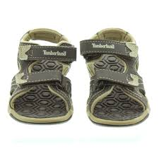 timberland kids adventure sandals in brown in brown